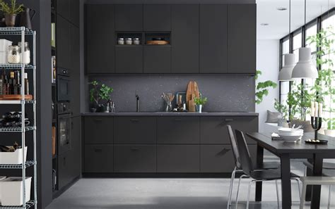 Sleek And Sustainable With A Dark Expression Ikea Black Kitchen Table