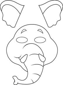 animal mask templates elephant mask template www imgkid the image kid