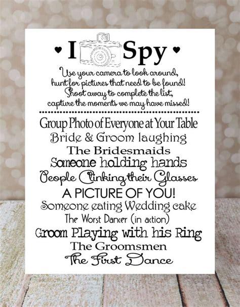 Wedding Reception Activities by I Wedding Diy Printable Photo By