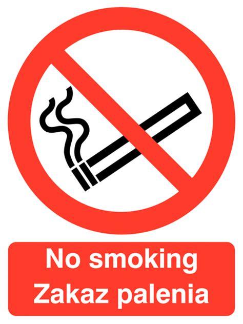 no smoking sign in polish no smoking polish english multilingual safety sign