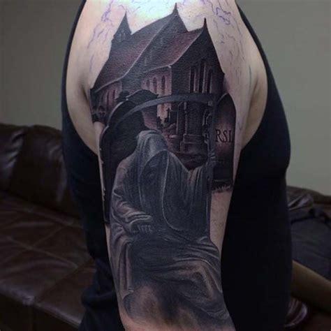 grim reaper tattoo designs for men collection of 25 grim reaper half sleeve design
