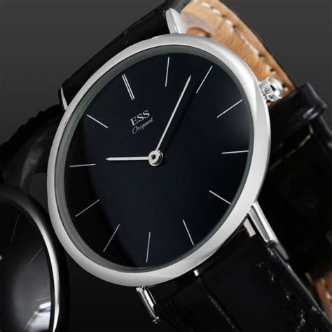 Jam Tangan Black Leather By ess jam tangan analog pria luxury leather wm513 481 black jakartanotebook