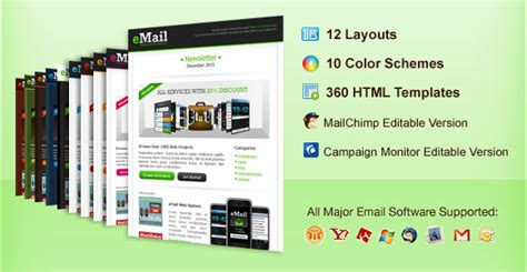 premium email template от chocotemplates 187 шаблоны dle 11