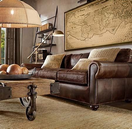 Dream House Decorating Ideas With Brown Leather Sofa