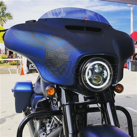 led black halomaker headlight harley daymaker replacement
