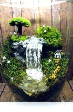 small indoor fountains  waterfalls fairy garden diy