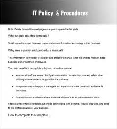 it policy document template policy and procedure templates word pdf