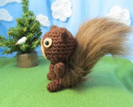 by hook by hand prairie flowers an original cloth doll crochet squirrel tail only new crochet patterns