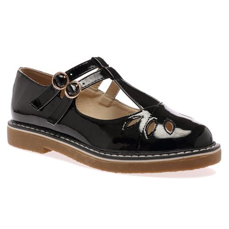 womens t bar flat shoes womens cut out t bar buckle