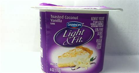 dannon light and fit vanilla yogurt crazy food dude review dannon light fit toasted