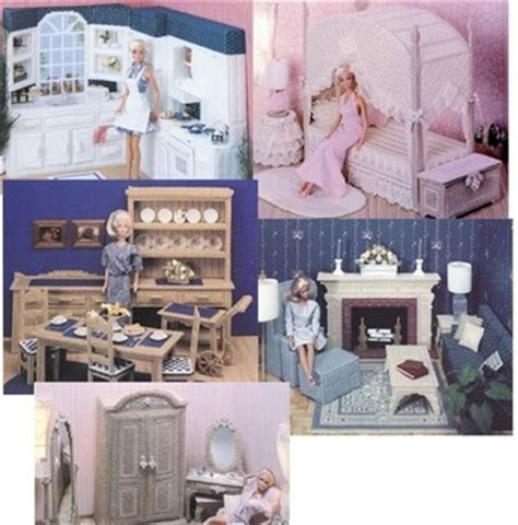 pattern for barbie doll house plastic canvas fashion doll furniture patterns and ideas