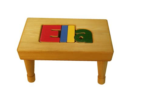 personalized bench personalized puzzle name bench