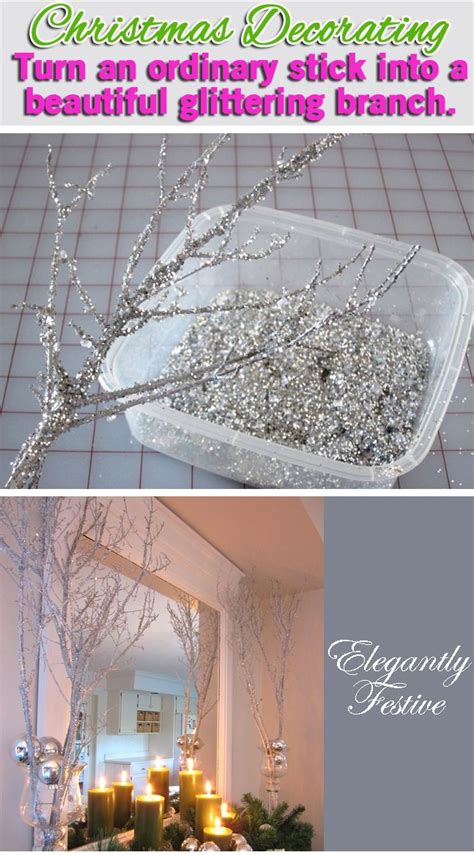 diy decorations branches decorating sparkly branches branches decoration and garlands