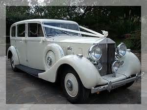 White Vintage Rolls Royce Wedding Car Weddings The Celebration