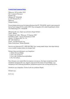 surat lamaran kerja teknik sipil contoh lamaran kerja