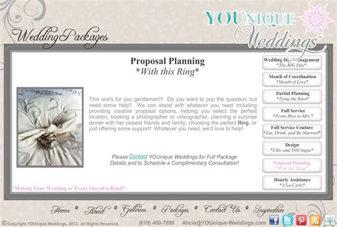 wedding planner wedding planner proposal
