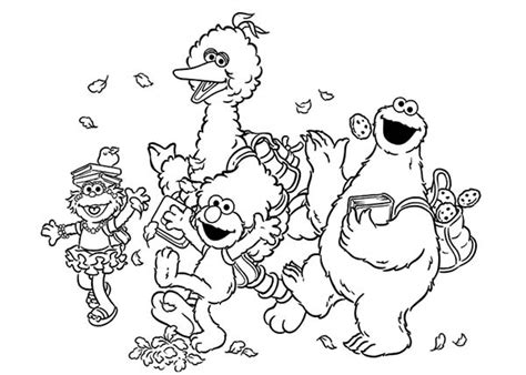elmo fall coloring pages all sesame street characters coloring pages murderthestout