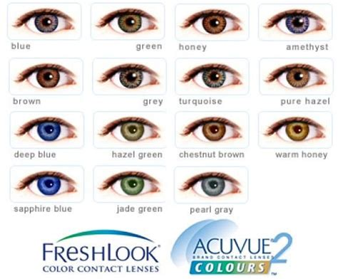 acuvue contacts color acuvue color chart guide to the best colored contacts
