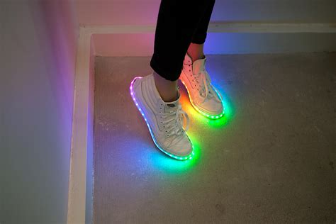 diy led shoes diy light up shoes style guru fashion glitz