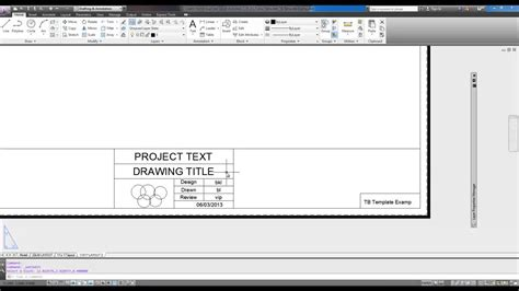 download layout templates autocad autocad tutorial create a title block from scratch intro