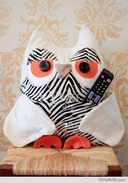 pattern for owl remote holder owl remote caddy tutorial craft ideas diy pinterest