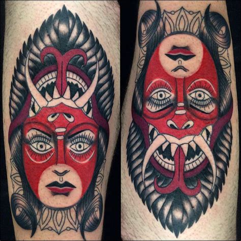 traditional devil tattoo neo traditional by amanda mariscal