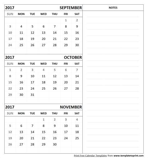 printable calendar september october november 2017 september october november 2017 calendar printable