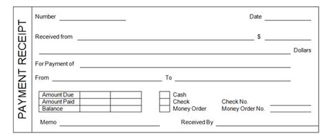 Salary Receipt Template For A Nanny by Payment Receipt