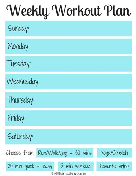 weekly workout plan weekly workout plan free workout planner printable the
