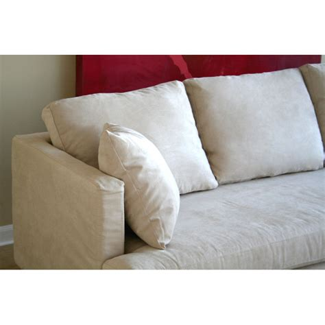 white microfiber sectional with chaise dcg stores