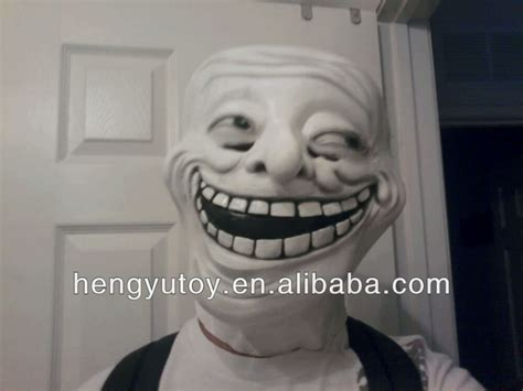 Troll Face Meme Mask - trollface party the cosplay carnival latex meme troll