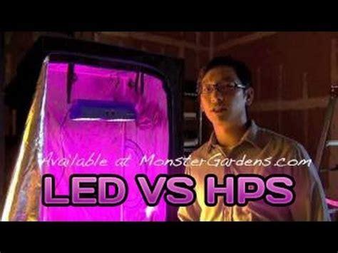 Led Grow Lights Vs Hps by Led Grow Light Testing Growlight Versus A 400 600 Watt