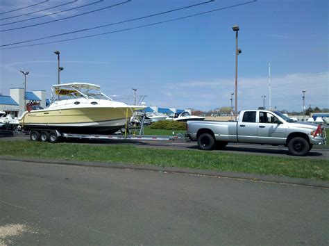 towing 30 foot boat anyone towing 35 38 footers the hull truth boating