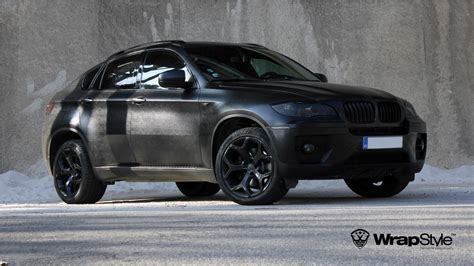 bmw x6 in black bmw x6 wrapped in quot black alligator quot looks kinda cool