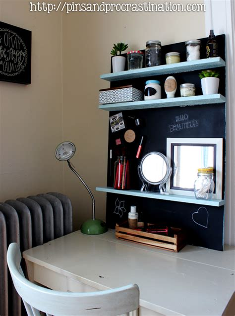 turn desk into vanity turn any desk into a magnetic chalkboard vanity pins and