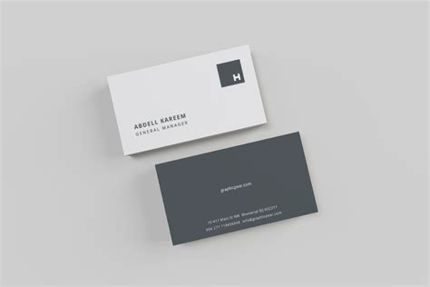 business card mockup template free professional stationery mockup