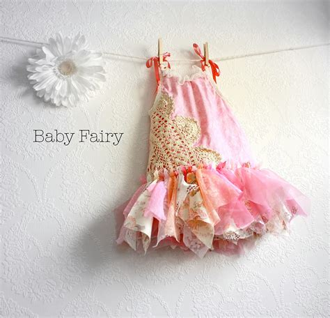 shabby chic fairy dress 12 months pink sundress by