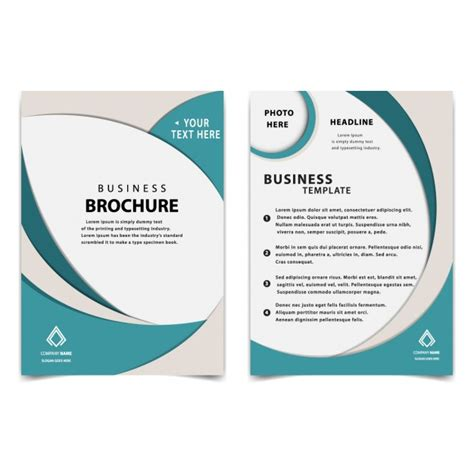 simple brochure template simple business brochure template vector free