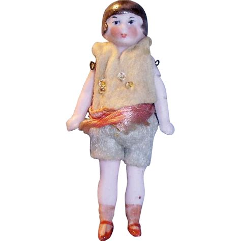 3 inch bisque doll antique 3 inch german molded hair all bisque doll from