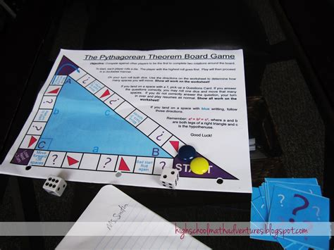 printable math board games for high school high school math adventures with mrs b pythagorean