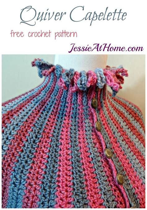 crochet quiver pattern quiver capelette a free crochet patter to dress up your
