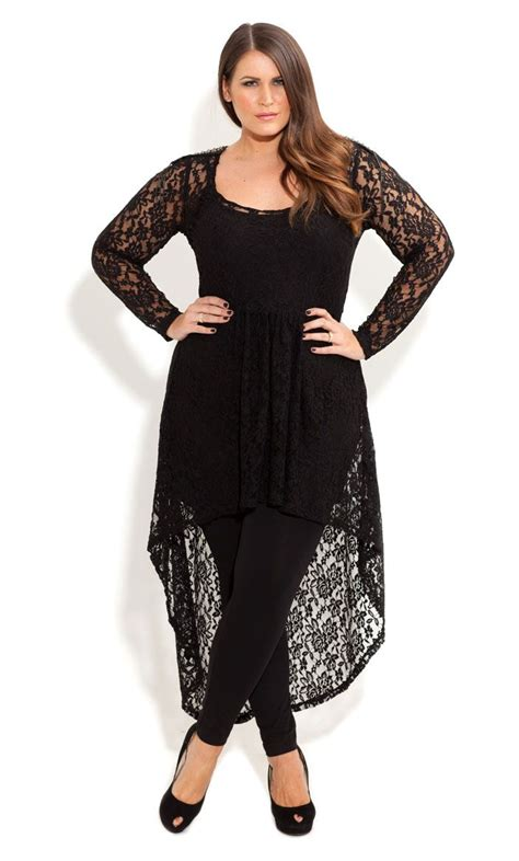 Trend Black Lace Goes Chic by Lace Armour Tunic Fashion Ideas Plus Size