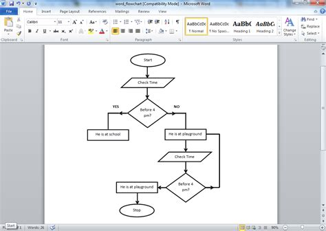 make a flowchart in word best photos of flowchart