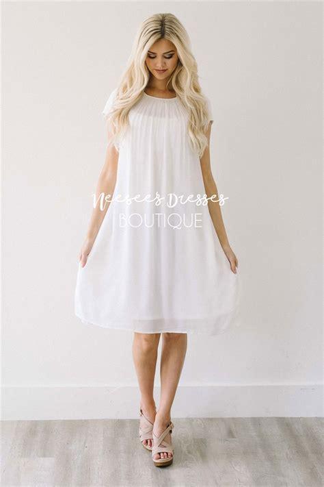 white swing dresses white swing cute dress modest dress modest bridesmaids