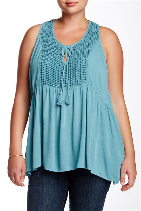 Terlaris Tank Top Terusan 7860 stony novelty yoke tank plus size nordstrom rack