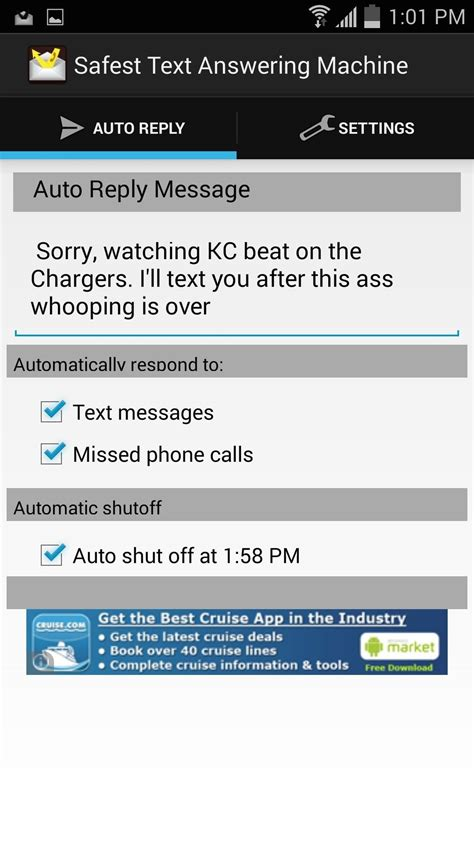 text message templates for android auto reply to missed calls texts on android when you re