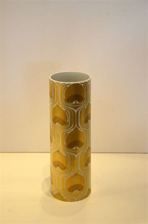 100th anniversary rosenthal gold and white porcelain vase