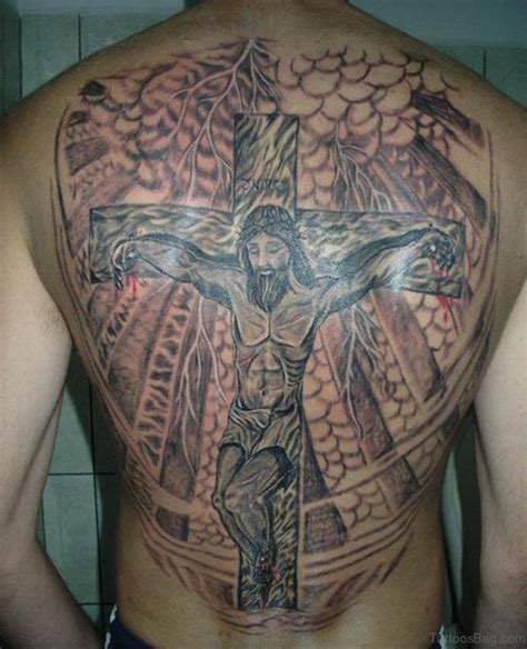 cross back tattoo designs 44 cross tattoos on back