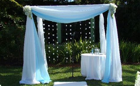Wedding Arch Home Depot by Pergola Draped With White Ideas
