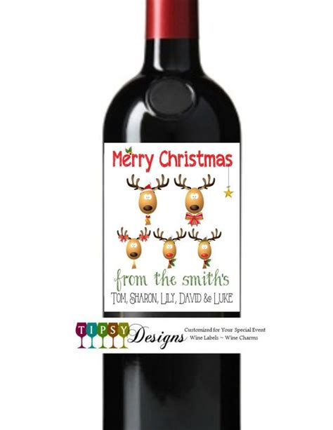 printable christmas wine labels 9 best images about wine bottles on pinterest bottle